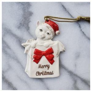Lenox Kitty Christmas Ornament